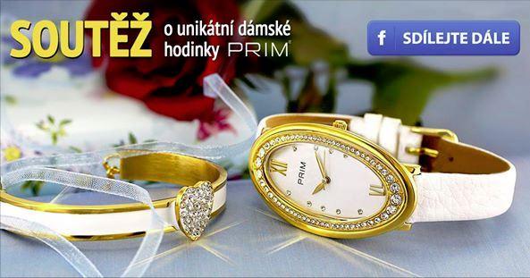 Soutěž o dámské hodinky PRIM