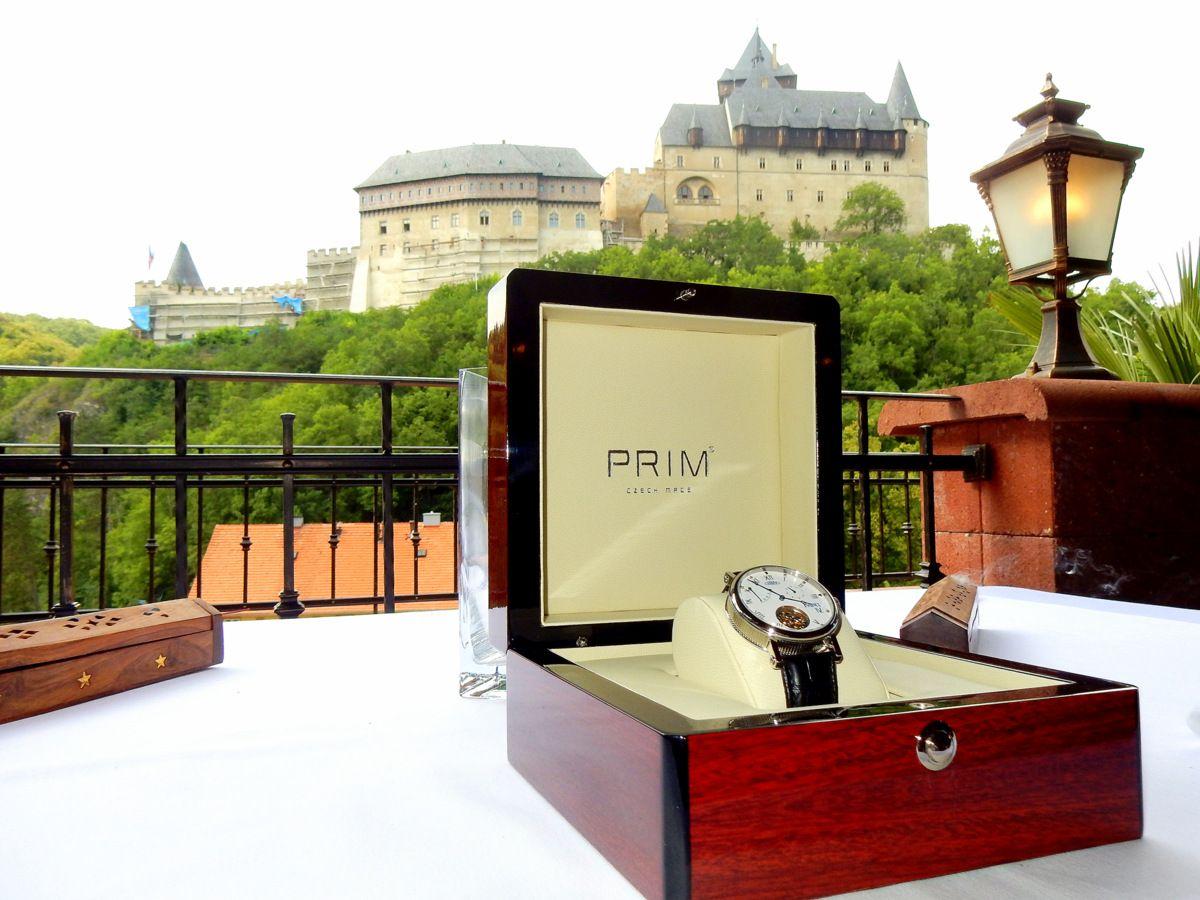 Představení hodinek PRIM Karel IV. na Karlštejně