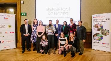 Česká olympijská nadace oslavila sedmé výročí benefičním koncertem